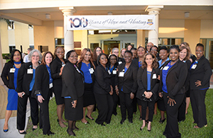 Image of Healey Center Staff on the 100th Anniversary
