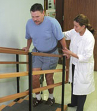 Image of Healey Center patient doing physical therapy