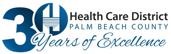 Health Care District of Palm Beach County 30th Anniversary Logo