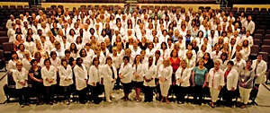 A group photo of over 200 School Health employees