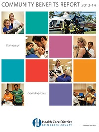 Front cover of the 2015 Community Benefits Reports