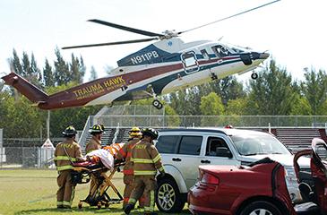 Image of the Trauma Hawk landing