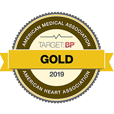 Gold Status Blood Pressure Control Badge from American Heart Association