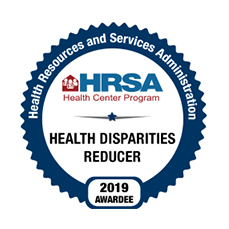 HRSA Health Disparities Reducer 2019 Awardee Badge