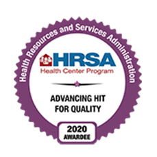 HRSA Advancing HIT Quality 2020 Badge