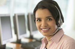 Head shot of a woman who is a customer service representative