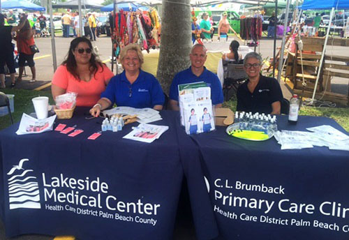 Lakeside and Brumback Clinics tables at the Black Gold Jubilee
