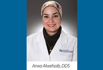 Head shot photo Dentist Arwa Alwehaib