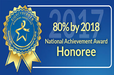 Photo reads 80 percent by 2018 National Achievement Award Honoree
