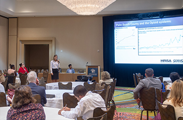 Image of Courtney Rowling presenting at NACHC Expo