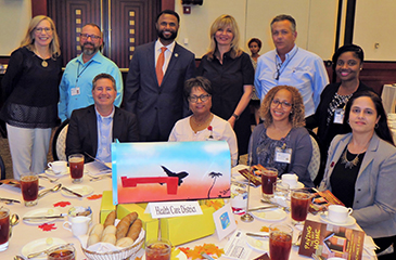 Staff at the Homeless Coalition Luncheon