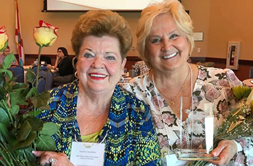 Image of Sandra Chamblee and Terri Calsetta with Awards