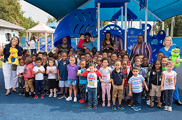 PEPPI Head Start Students on the playground