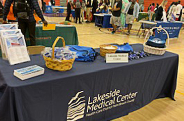 LMC table at event
