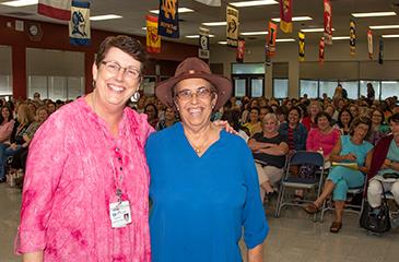 Ginny Keller and Dr. Alina Alonso