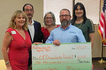 Photo of the PFA Grant Presentation