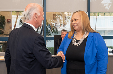 Image of Tammy Jackson-Moore being sworn in