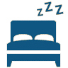 Sleep Icon - Image of a bed