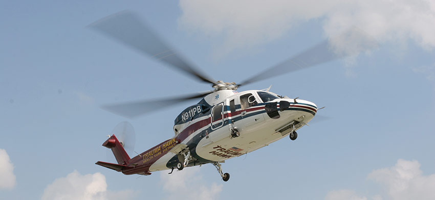 The District's two air ambulances provide safe,  rapid air transport when seconds count.
